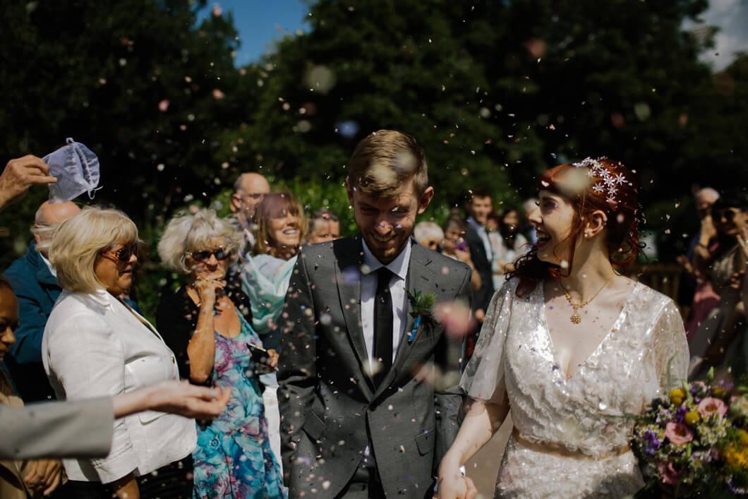 bröllopsfotografering av bruden