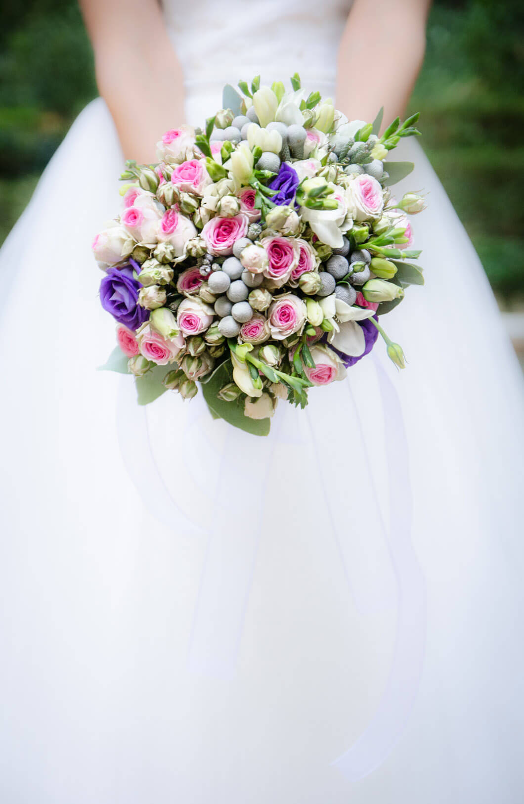 vacker brudbukett