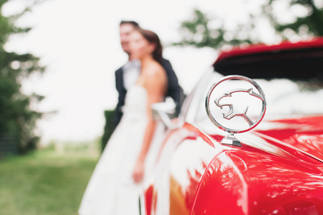 vacker bild på brudparet